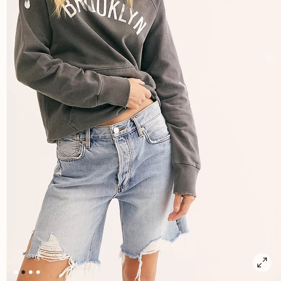 Free People Sequoia High Rise Jean Shorts